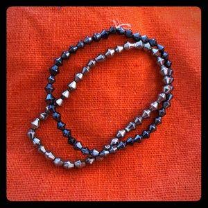 Jewelry - Two stretchy metallic bead bracelets